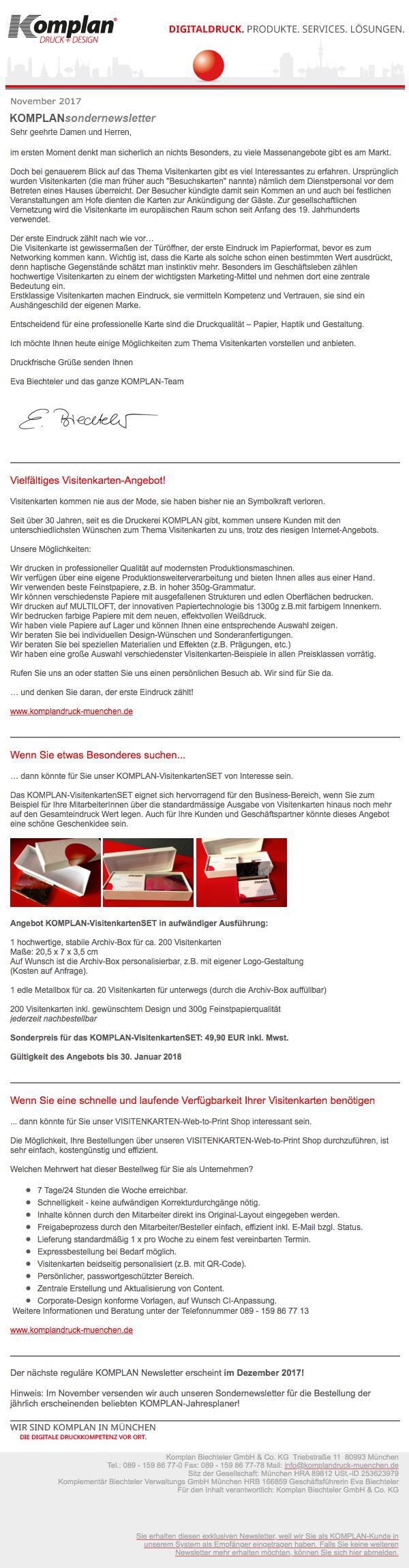 Komplan Sondernewsletter - Nov 2017 - 1 | Komplan - Die digitale ...